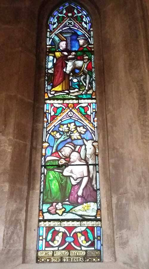 After stained glass restoration is complete